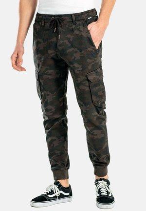 REFLEX RIB CARGO - Cargo trousers - black camo
