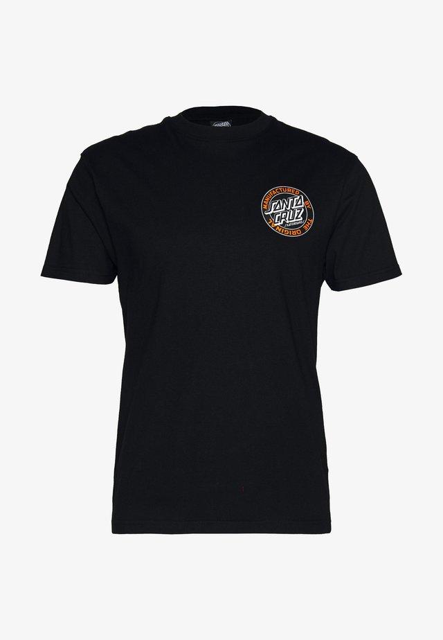 unisex dot - T-shirts med print - black