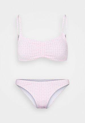 GATHERED FRONT TOP GATHERED BUM BRAZILIAN - Bikini - primrose