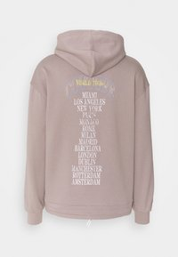 The Couture Club - OVERSIZED FIT HOOD WITH FLAMING CAR GRAPHIC - Sweatshirt - washed taupe - 1