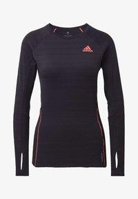 adidas Performance - RUNNER LONG-SLEEVE TOP - Long sleeved top - black - 5