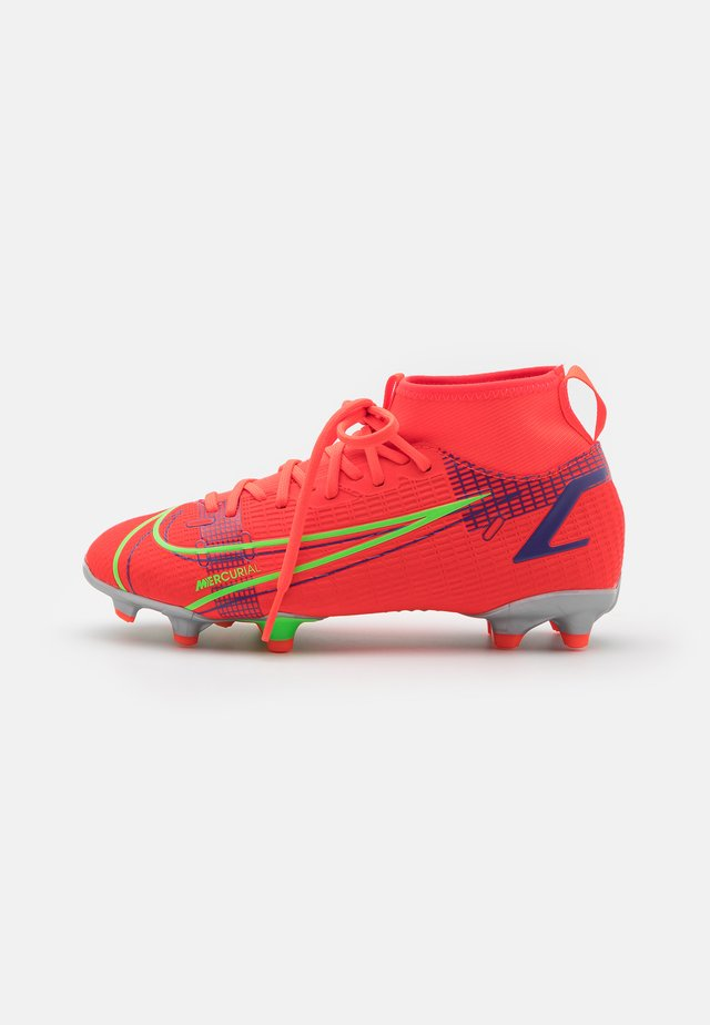 MERCURIAL 8 ACADEMY MG UNISEX - Moulded stud football boots - bright crimson/metallic silver