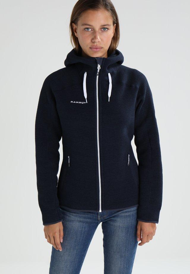 ARCTIC HOODED - veste en sweat zippée - marine melange