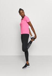 Nike Performance - CITY SLEEK - Camiseta estampada - pink glow/silver - 1
