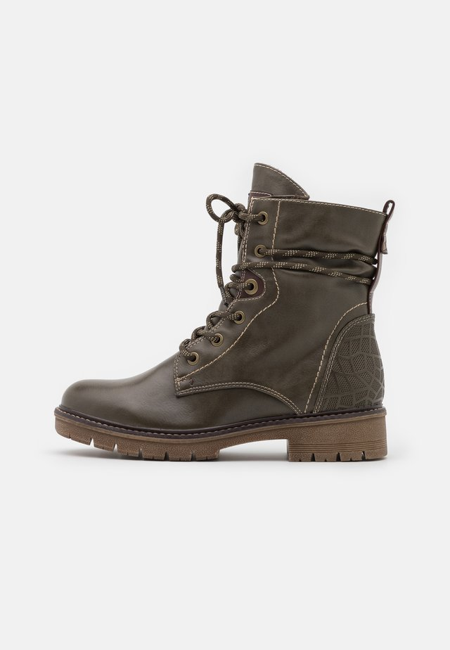 BOOTS - Bottines à lacets - olive