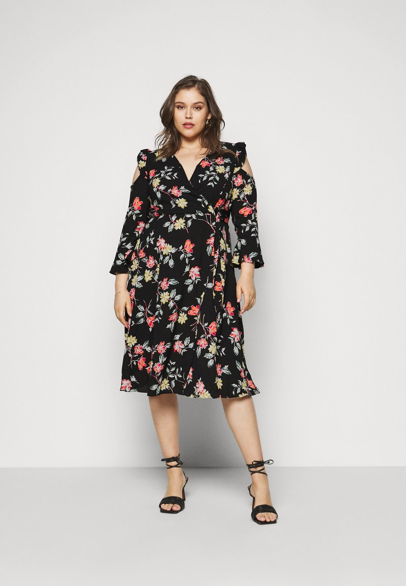 Simply Be - WRAP DRESS - Day dress - black