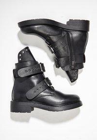 Inuovo - Cowboy/biker ankle boot - black blk - 2