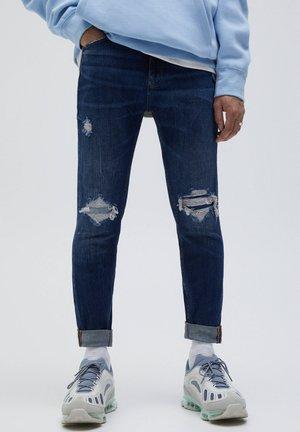 Slim fit jeans - mottled blue
