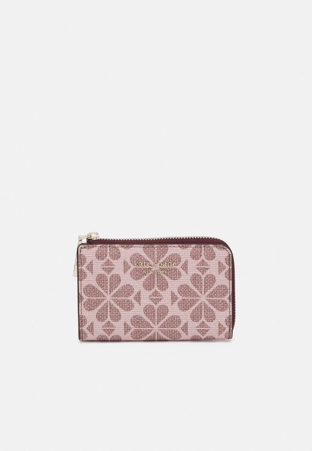 SPADE FLOWER COATED KEY POUCH - Punge - pink multi