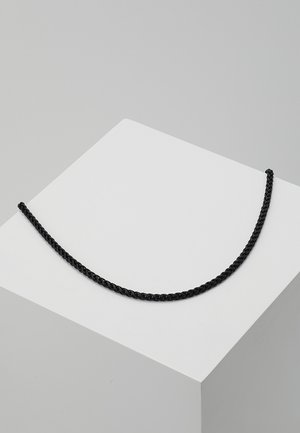 WHEAT LINK NECKLACE - Halskette - black