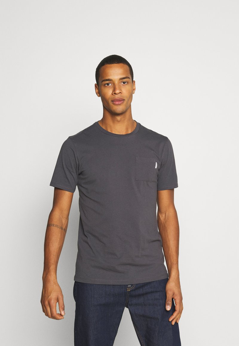 Scotch & Soda - POCKET TEE - Basic T-shirt - anthra