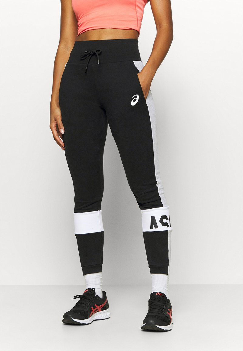 ASICS - COLORBLOCK PANT - Tracksuit bottoms - performance black