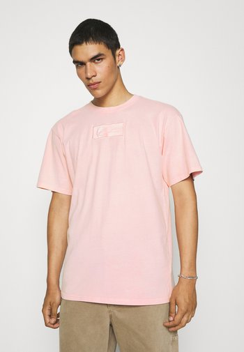 SMALL SIGNATURE BOX WASHED TEE UNISEX - T-shirt imprimé - rose
