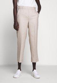 J.CREW - PEYTON PANT IN TRAVELER - Trousers - flax - 0
