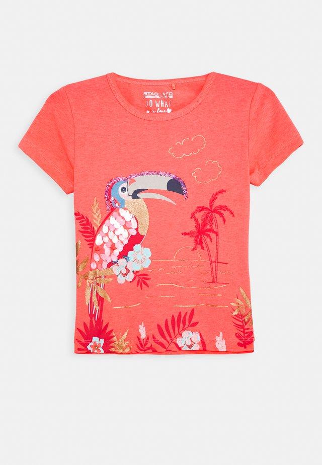 KID - T-shirt print - neon red