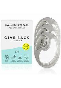 GIVE BACK Cosmetics - HYALURON EYE PADS ALGEN-EXTRAKT – 3ER PACK- SPENDE: TIERSCHUTZ - Eyecare - - - 1