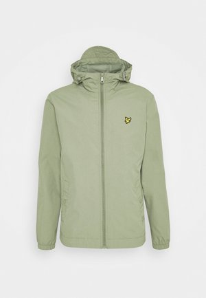 ZIP THROUGH HOODED JACKET - Giacca leggera - moss