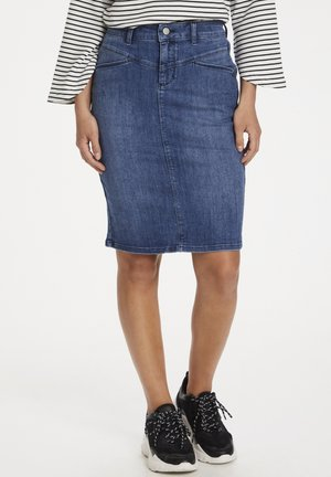 Pencil skirt - blue denim