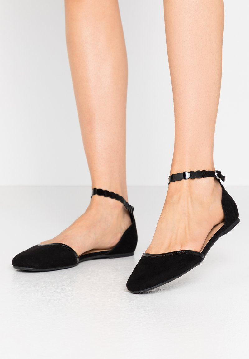 Anna Field - Ankle strap ballet pumps - black