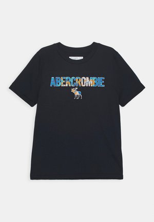 TECH LOGO - Print T-shirt - navy