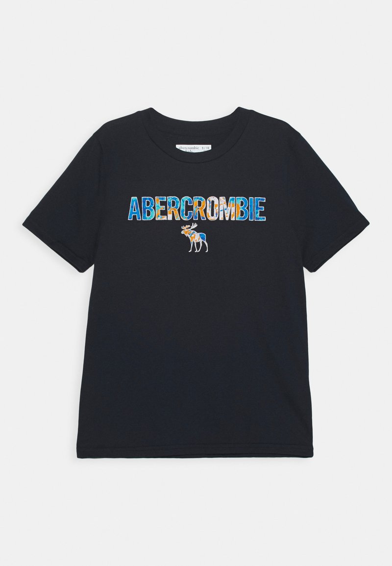 Abercrombie & Fitch - TECH LOGO - T-shirt con stampa - navy