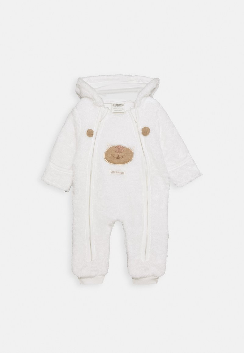 Jacky Baby - KUSCHEL KAPUZENOVERALL WILD WILD WEST - Overal - off-white