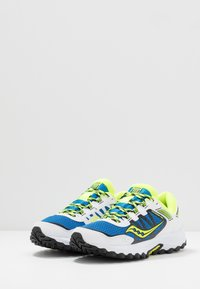 Saucony - EXCURSION TR13 - Tenisky - blue/citron/black - 2