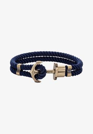 Armband - blau messing
