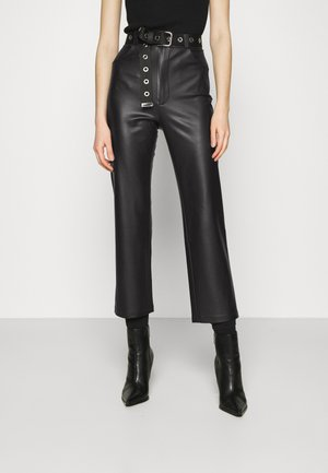 STRAIGHT PANTS - Trousers - black