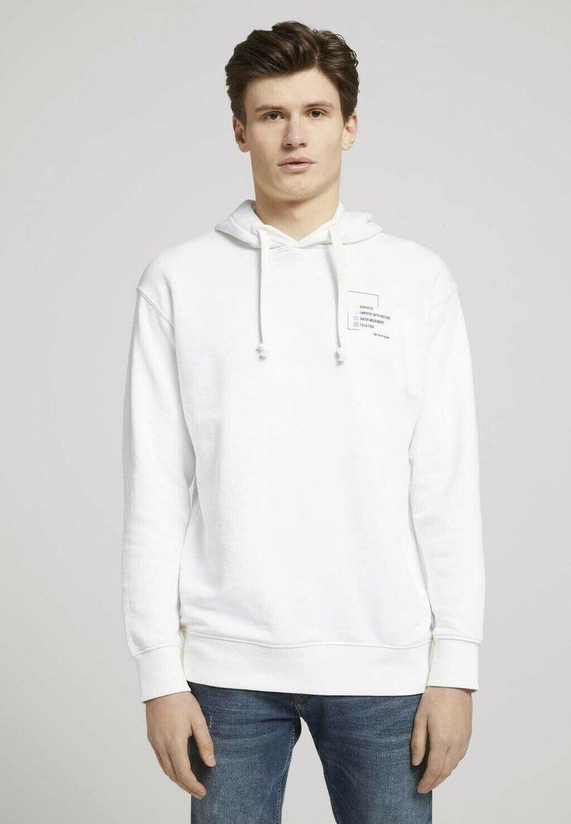 TOM TAILOR DENIM - Hoodie - soft clear white