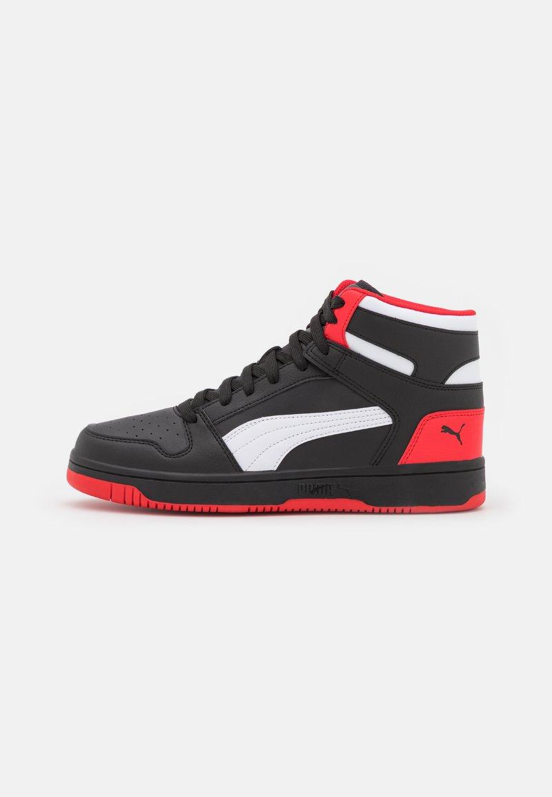 Puma - REBOUND LAYUP UNISEX - High-top trainers - black/white/high risk red