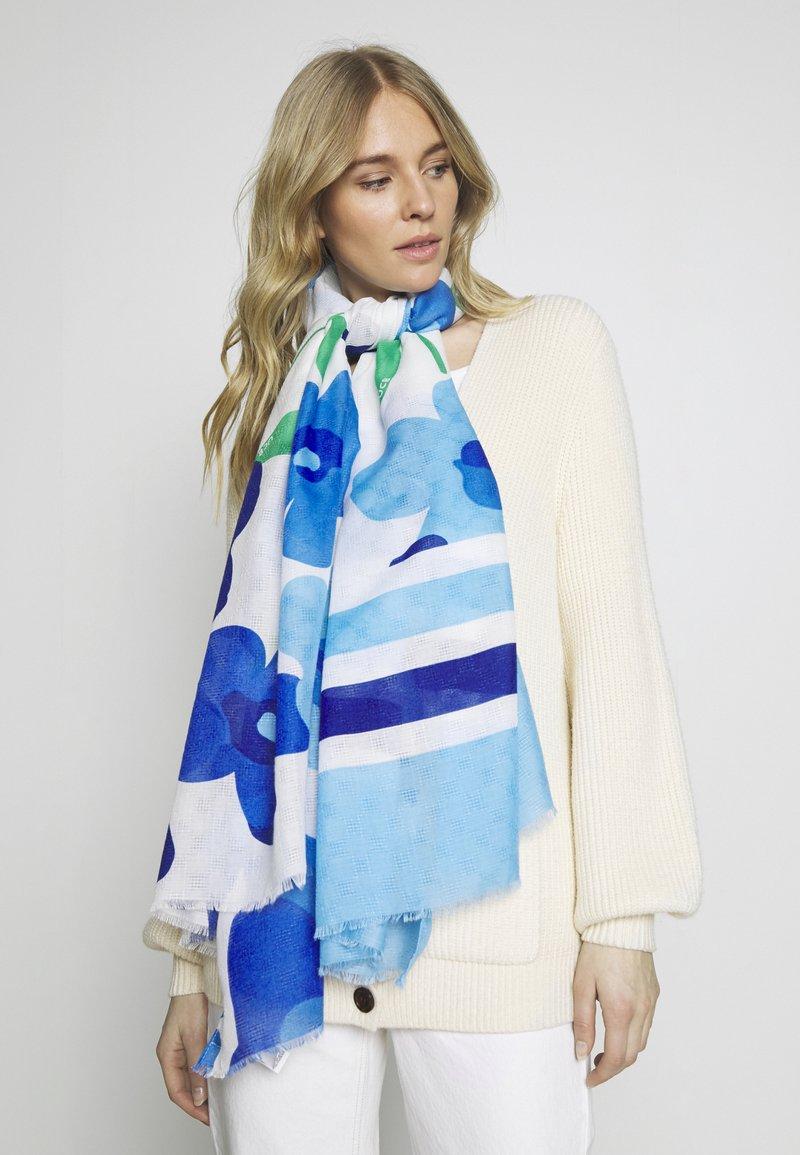 Benetton - Szal - blue/white