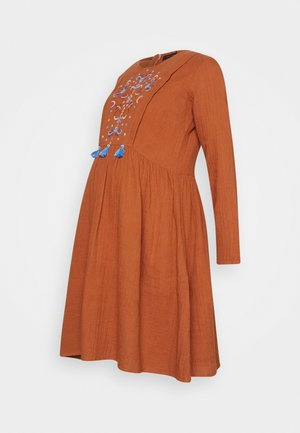 SMALL PARADISE - Day dress - rust