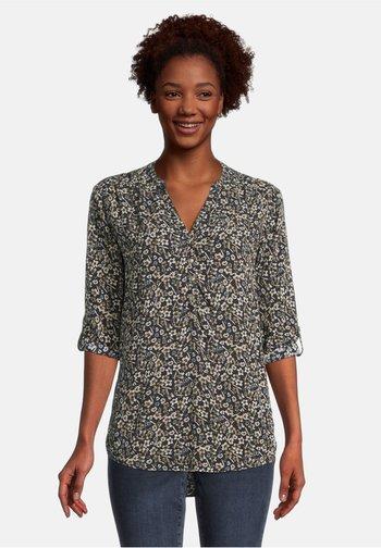 Long sleeved top - blau/taupe