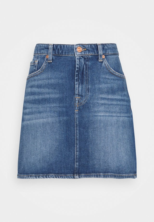 SKIRT PIER - Mini skirts  - mid blue