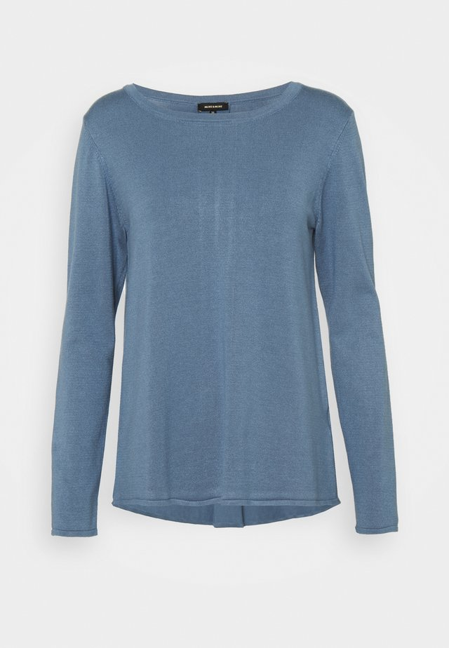 BOAT NECK PLEAT  - Sweter - dusty blue