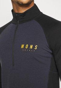 Mons Royale - OLYMPUS 3.0 HALF ZIP - Tílko - black/iron - 5