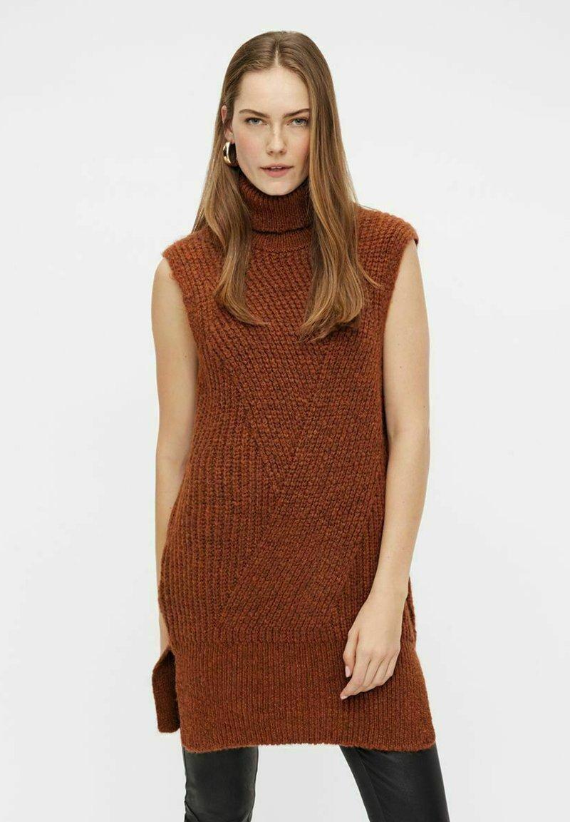 YAS - Jumper dress - mocha bisque
