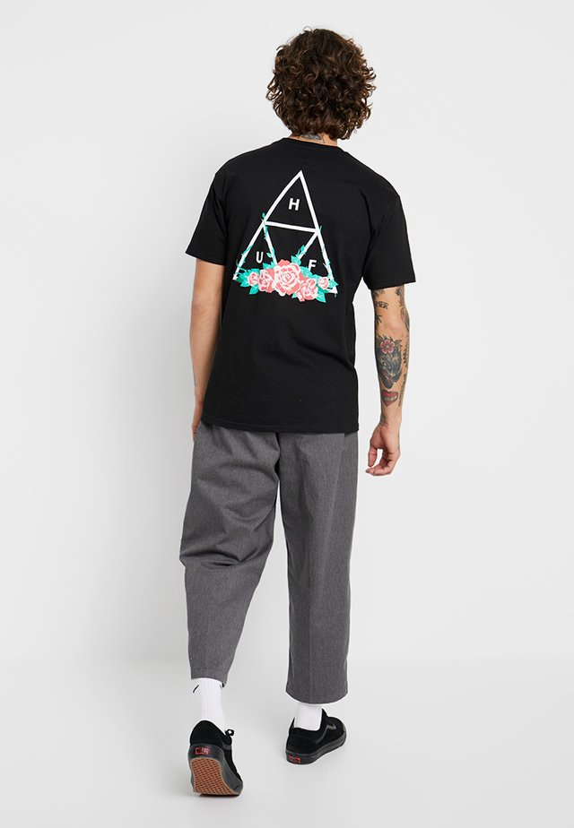 CITY ROSE TEE - T-shirts med print - black