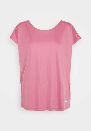 DRY ELASTIKA - Sports shirt - desert berry/dark beetroot/white