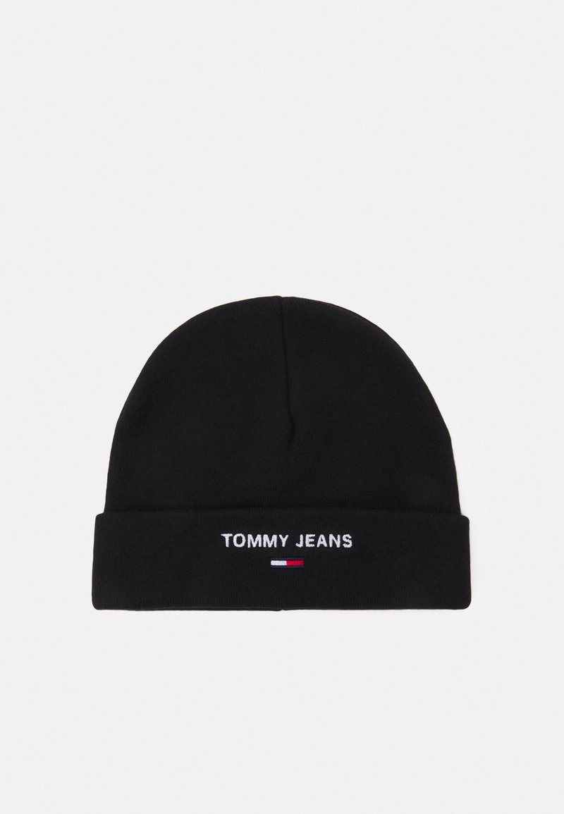 Tommy Jeans - SPORT BEANIE UNISEX - Pipo - black