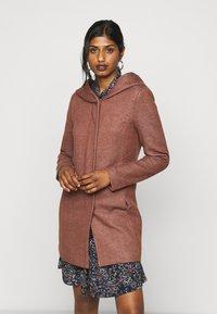 ONLY Petite - ONLSEDONA LIGHT COAT PETITE  - Short coat - chocolate fondant melange - 0