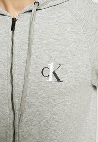 Calvin Klein Underwear - LOUNGE FULL ZIP HOODIE - Pyjamapaita - grey - 5
