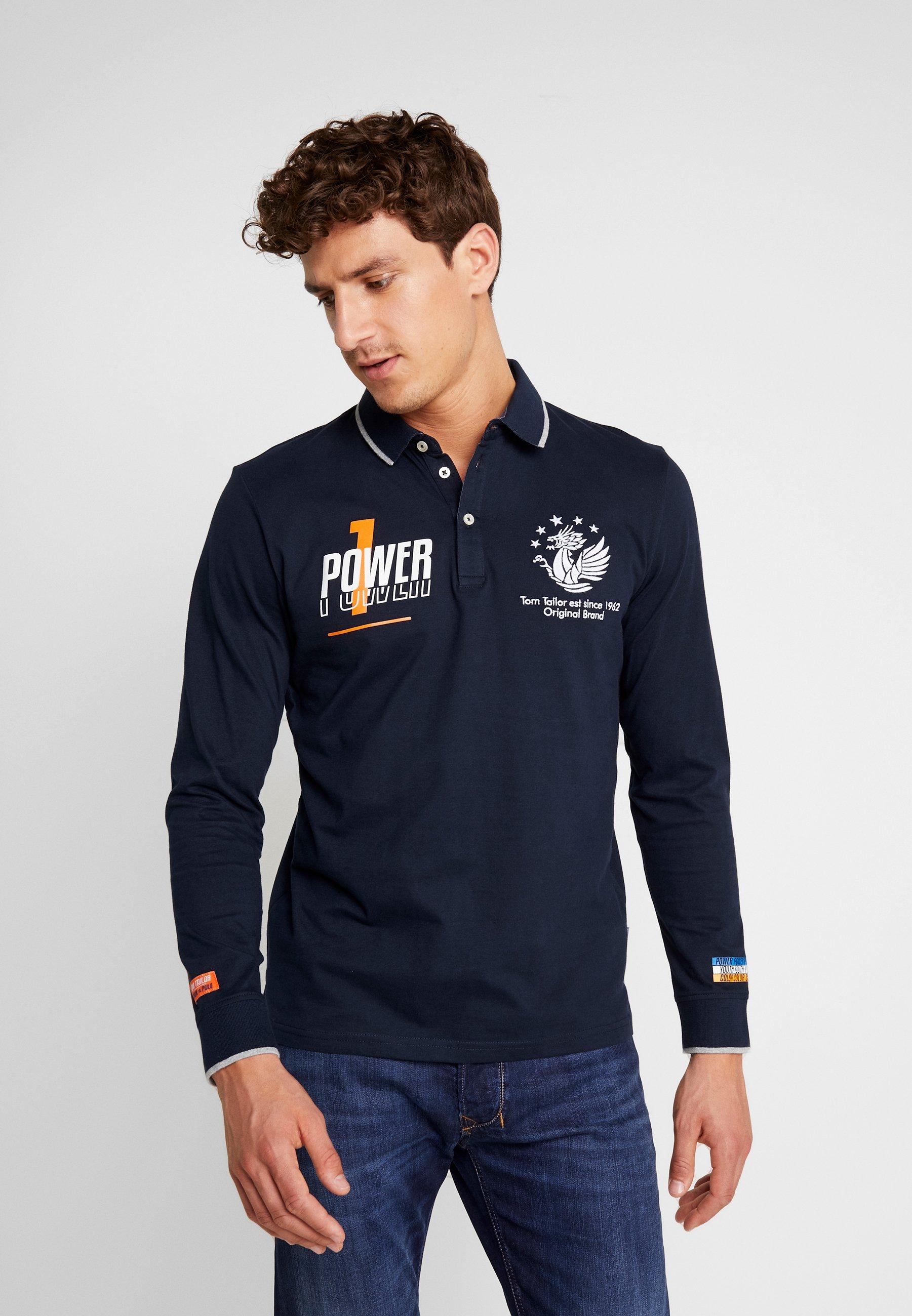 Najwyżej oceniane Gorąca wyprzedaż TOM TAILOR Koszulka polo - blue   Odzież męska 2020 M9EFG