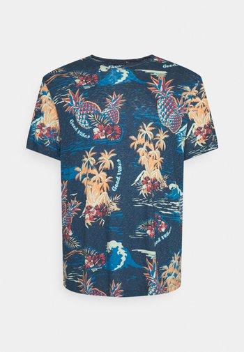 JORTROPICANA TEE CREW NECK - Print T-shirt - ensign blue