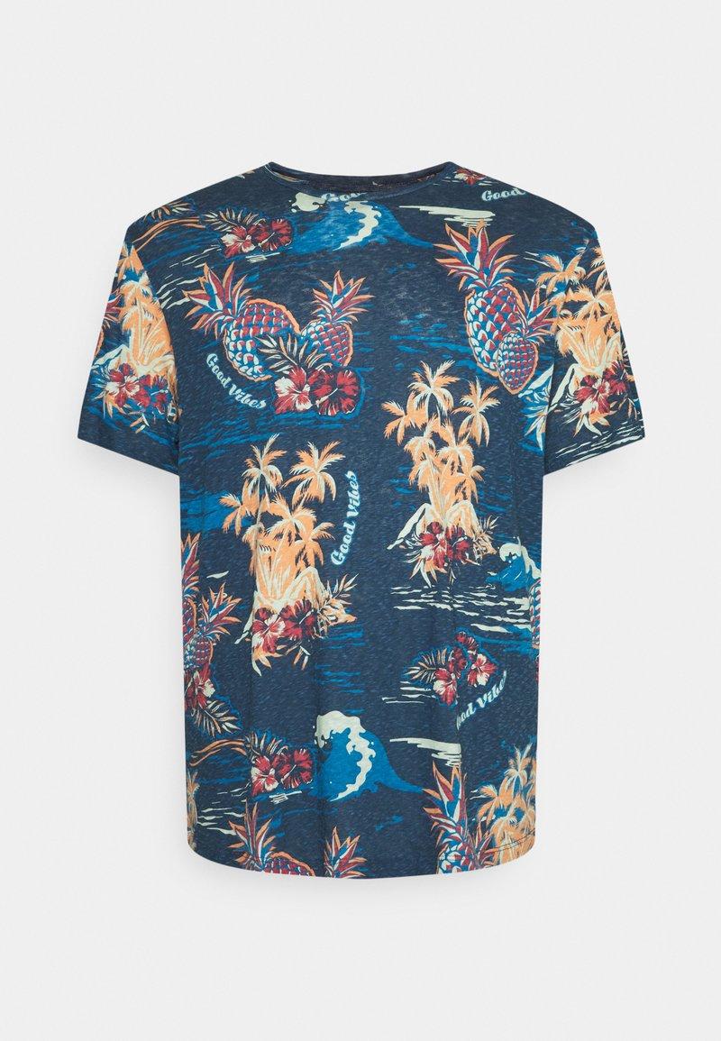 Jack & Jones - JORTROPICANA TEE CREW NECK - Print T-shirt - ensign blue