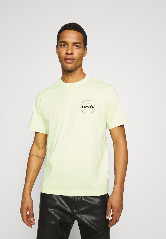 FIT TEE - Print T-shirt - neon yellow