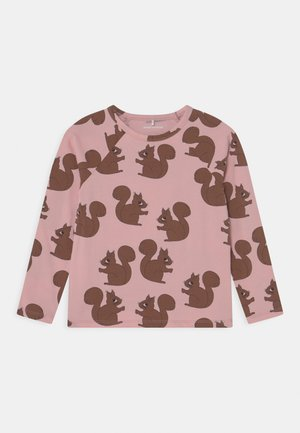 SQUIRREL RAGLAN TEE - Long sleeved top - pink