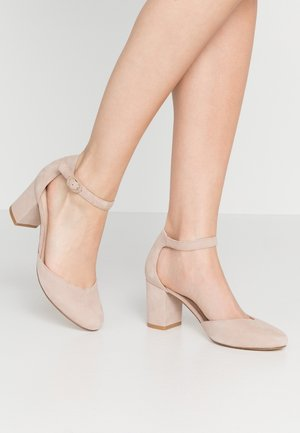 LEATHER - Tacones - nude