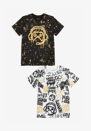 2 PACK - T-shirt con stampa - black